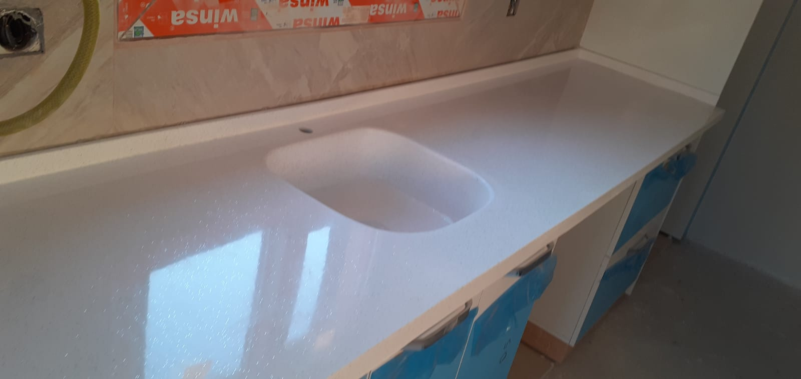 Cultured Marble Kitchen And Bathroom Countertop White Color Turkish Trade Link Turkish Produces